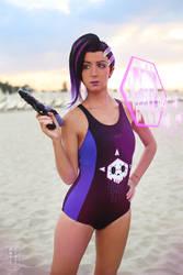 Sombra swimsuit ~ Overwatch by LauMao