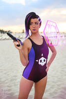 Sombra swimsuit ~ Overwatch by LauMao
