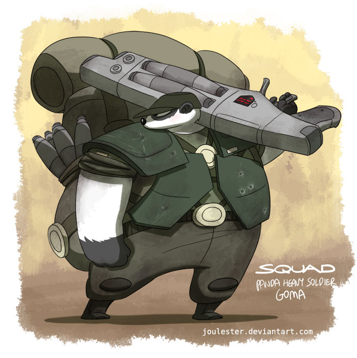 Panda heavy soldier Goma by joulester