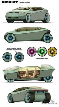 Delorean 7-seater minivan concept