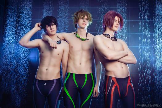 Free! - Makoto,Rin,Haruka - Eternal Summer 2