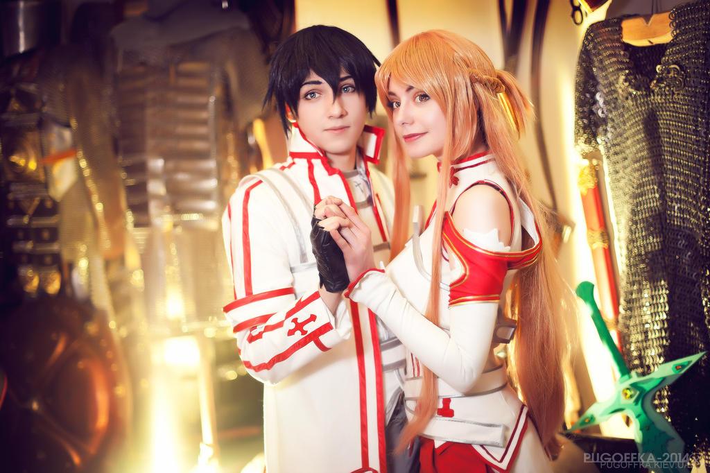 SAO - Asuna and Kirito by AmethystPrince