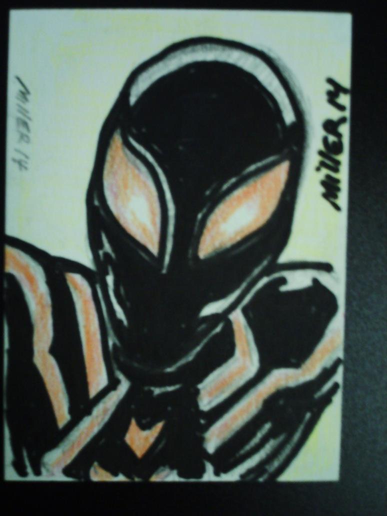 sketch card of spiderman 2099 by desertdogg2006