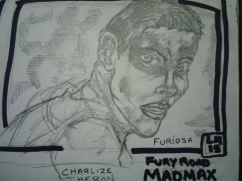 furiosa from fury road mad max by larry miller. by desertdogg2006
