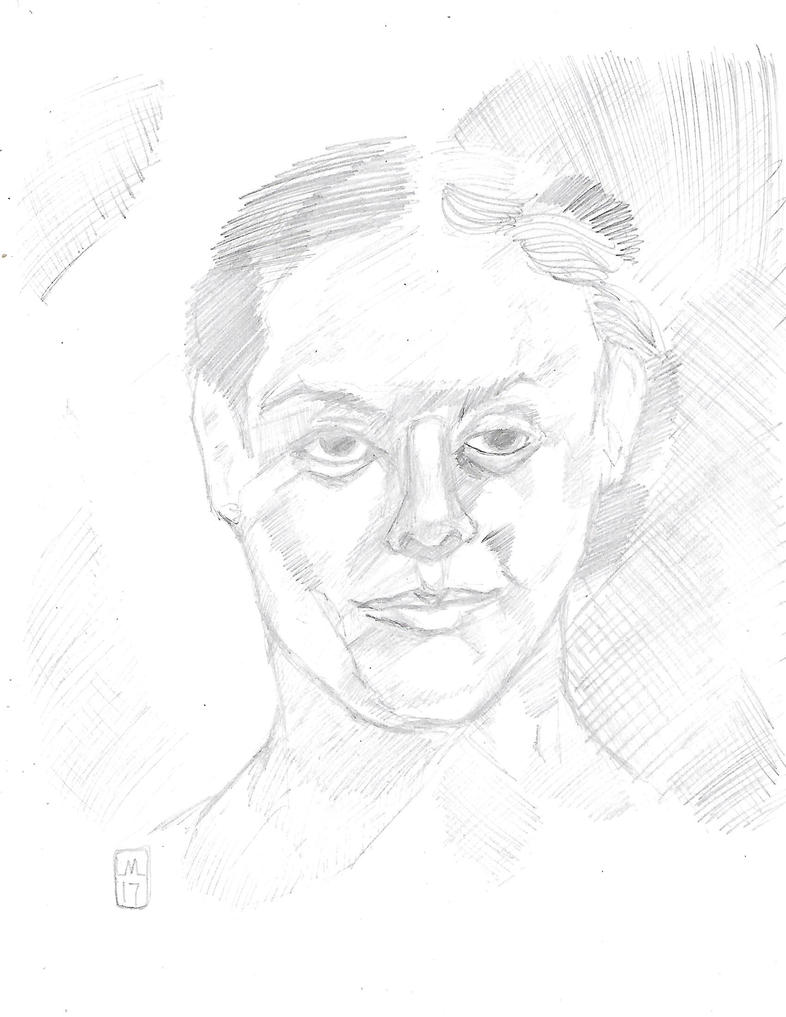 pencil sketch of woman by desertdogg2006