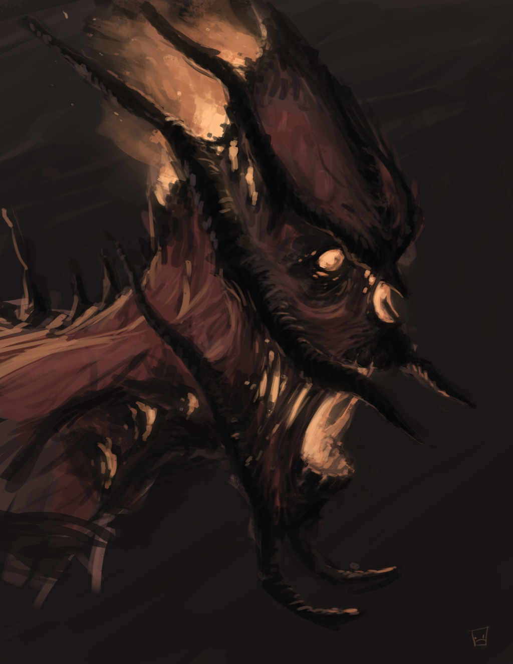 Demon Head by Zerahoc