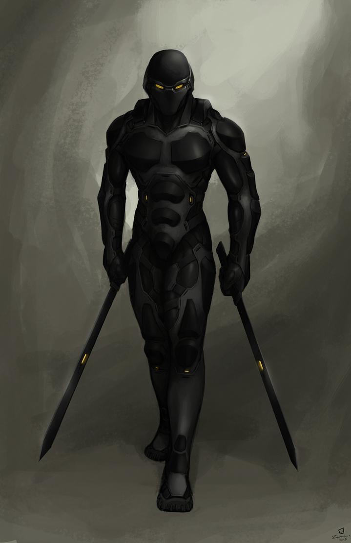Cyber-ninja commission by ZerahocFuturistic Ninja Armor