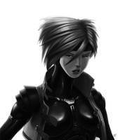 Cyberpunk speedpaint portrait by Zerahoc