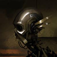 Speedpainting - Skullbot by Zerahoc