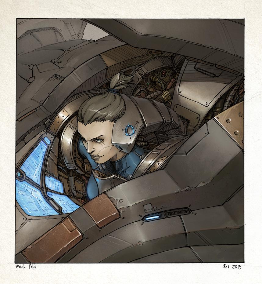 Mech pilot by Zerahoc