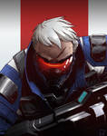 Overwatch Fanart: Soldier 76 by Zerahoc