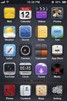 Black Light Theme for iPhone4