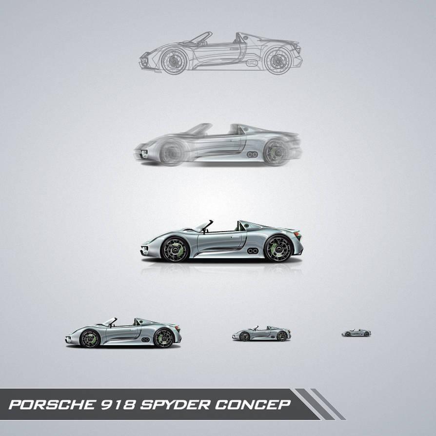 Porsche 918 Spyder Concep By Vezok On Deviantart