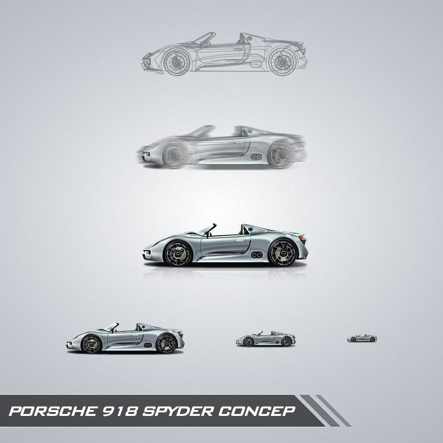 porsche 918 spyder concep by vezok on deviantart. Black Bedroom Furniture Sets. Home Design Ideas