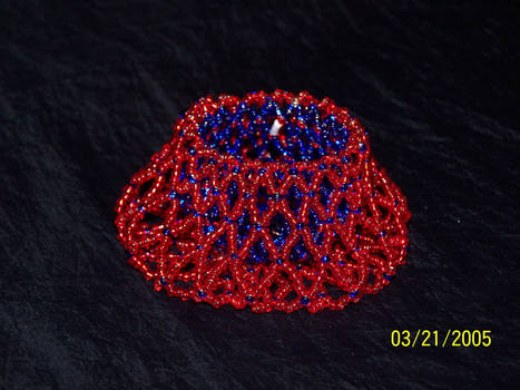 beaded basket with seed beads