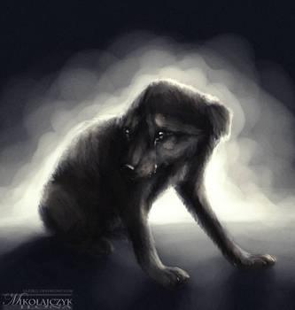 Sad puppy. by Safiru