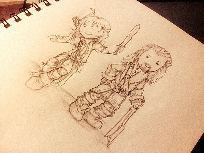 Kili and Fili. by Safiru