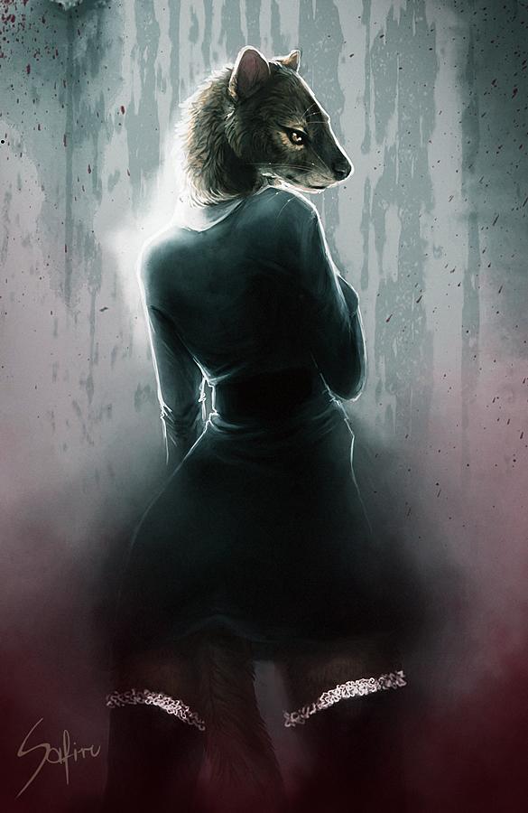 Lady in black. by Safiru