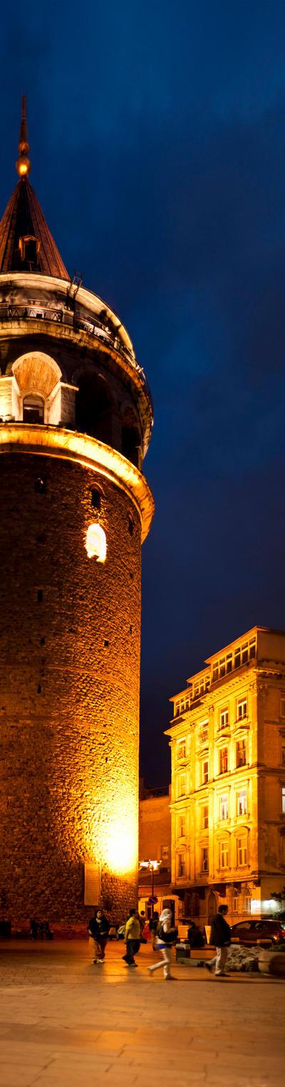 galata tower panorama