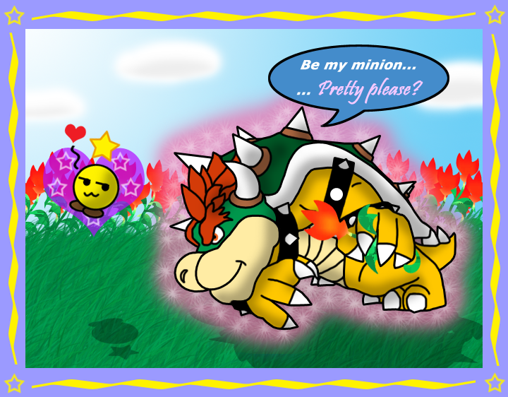 Starlow and Bowser by nokamarau