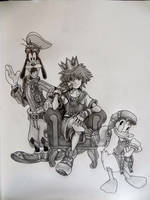 Kingdom Hearts 1.5 - Sora, Donald, and Goofy by TheCloudchaser