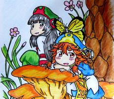 Lampshade Drawing #57 - Hakumei to Mikochi