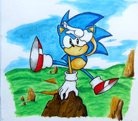 Lampshade Drawing #58 - Sonic
