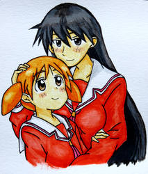 Lampshade Drawing #59 - Chiyo and Sakaki