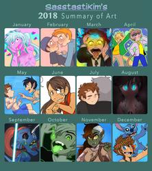 2018 Summary of Art by Gell-pen