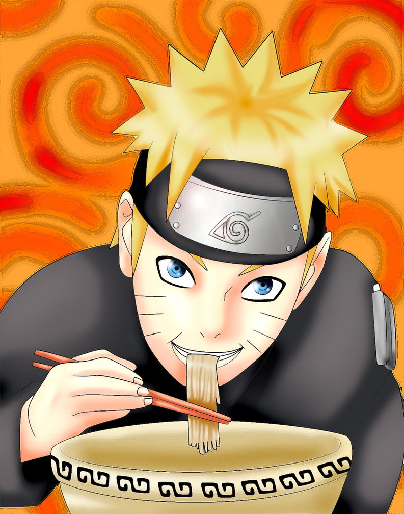 naruto eating ramen coloring pages - photo#9