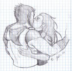 sketch: Just a kiss