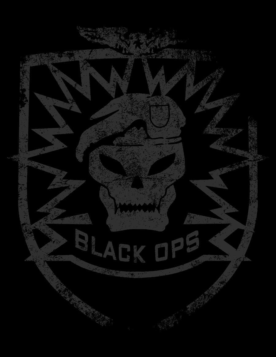 Black Ops Grunge Skull Badge By Sharifelkomi