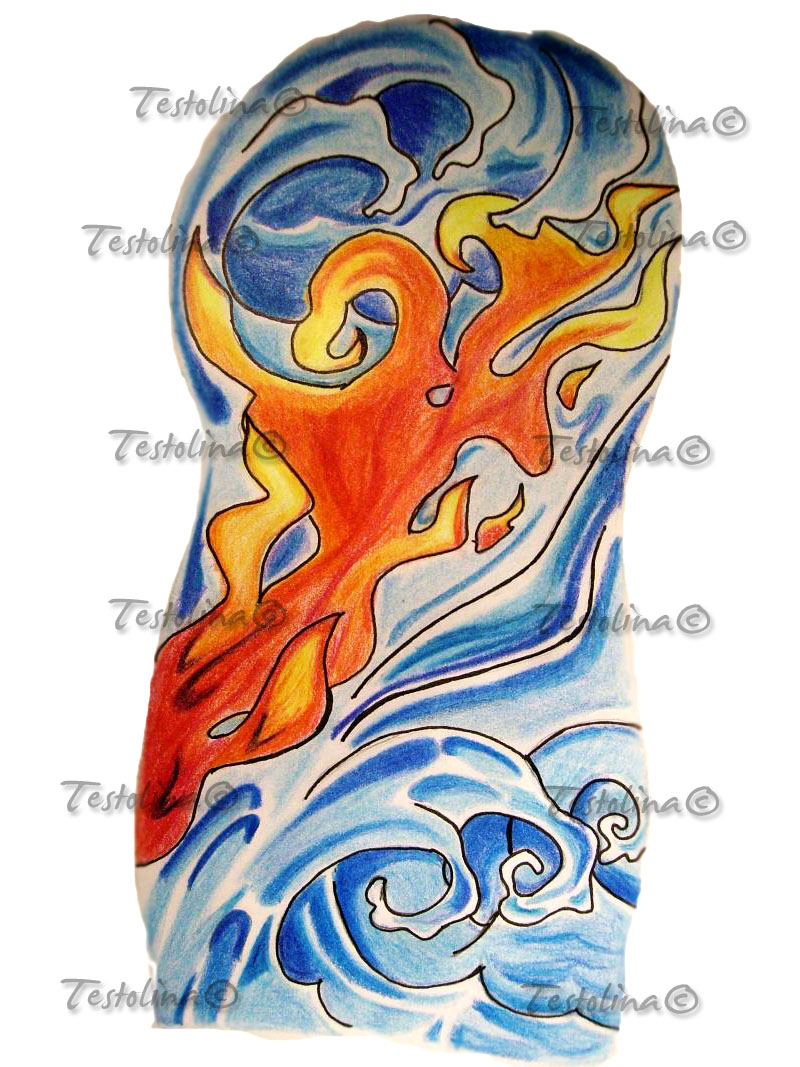 Fire 39 n 39 water by testolina87 on deviantart for Fire and ice tattoo shop