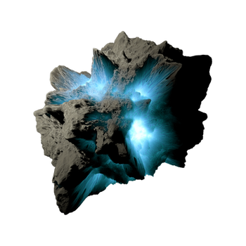 Asteroid Meteor Lightblue Transparent Space Stock