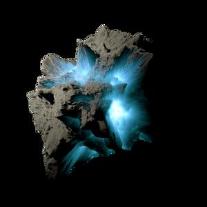 Asteroid Meteor Lightblue Transparent Space Stock