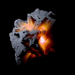 Asteroid Meteor Orange  Transparent Space Stock by LapisDemon
