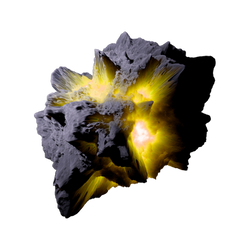 Asteroid Meteor Yellow   Transparent Space Stock by LapisDemon