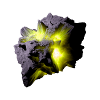 Asteroid Meteor YellowGreen | Transp. Space Stock by LapisDemon