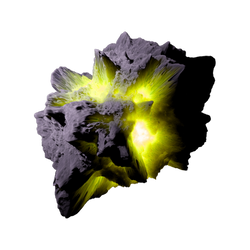 Asteroid Meteor YellowGreen   Transp. Space Stock by LapisDemon