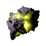 Asteroid Meteor YellowGreen | Transp. Space Stock