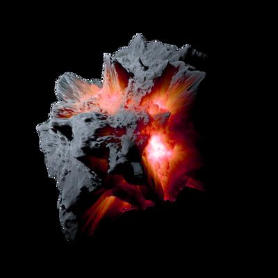 Asteroid Meteor OrangeRed | Transp. Space Stock