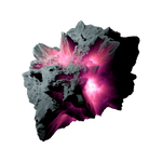 Asteroid Meteor Fuchsia | Transparent Space Stock