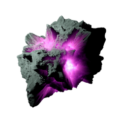 Asteroid Meteor Magenta | Transparent Space Stock by LapisDemon
