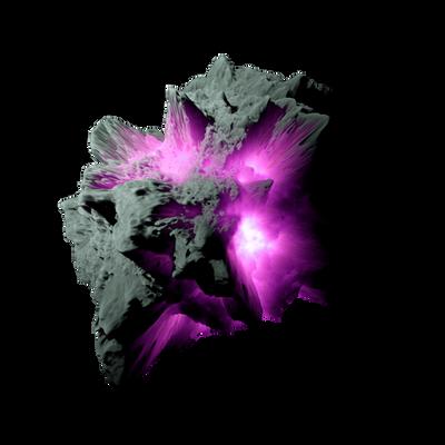 Asteroid Meteor Magenta   Transparent Space Stock
