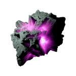 Asteroid Meteor Magenta | Transparent Space Stock