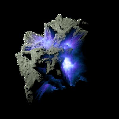 Asteroid Meteor Purple | Transparent Space Stock