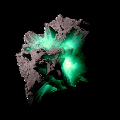 Asteroid Meteor LagoonGreen | Transp. Space Stock by LapisDemon