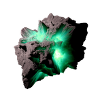 Asteroid Meteor LagoonGreen | Transp. Space Stock