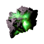 Asteroid Meteor Green | Transparent Space Stock