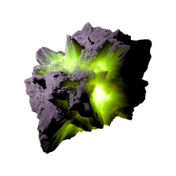 Asteroid Meteor Lime   Transparent Space Stock by LapisDemon